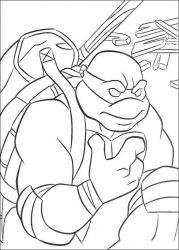plansa de colorat testoasele ninja de colorat p25