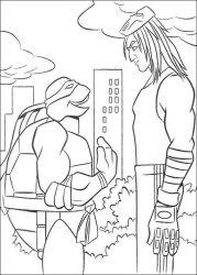 plansa de colorat testoasele ninja de colorat p28