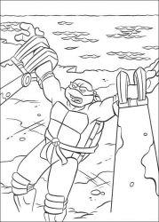 plansa de colorat testoasele ninja de colorat p31