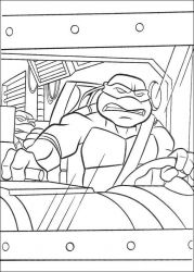 plansa de colorat testoasele ninja de colorat p34