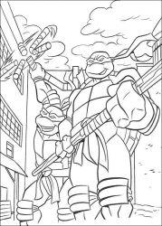 plansa de colorat testoasele ninja de colorat p37