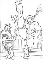 plansa de colorat testoasele ninja de colorat p40
