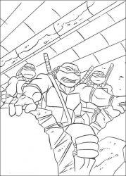 plansa de colorat testoasele ninja de colorat p50