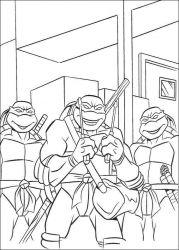 plansa de colorat testoasele ninja de colorat p55