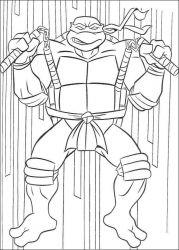 plansa de colorat testoasele ninja de colorat p71
