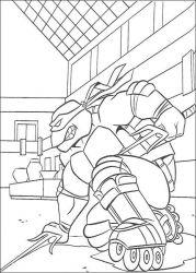 plansa de colorat testoasele ninja de colorat p72