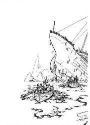 plansa de colorat titanic de colorat p17