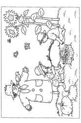 plansa de colorat toamna de colorat p08