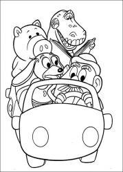 plansa de colorat toy story de colorat p118