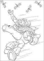 plansa de colorat toy story de colorat p95