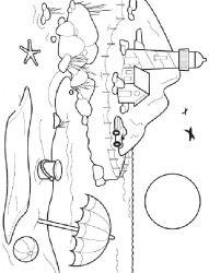 plansa de colorat vacanta de colorat p36