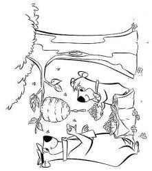 plansa de colorat yogi bear de colorat p03