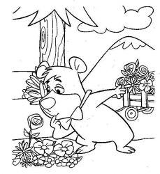 plansa de colorat yogi bear de colorat p13
