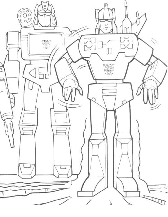 Planse de colorat Transformers